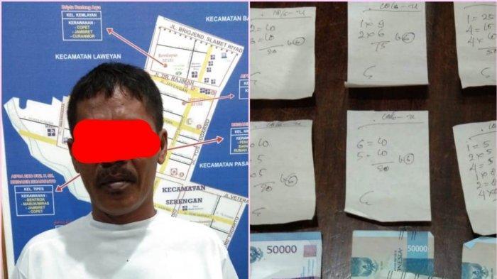 Penjual Togel Capjikia di Serengan Solo Dibekuk Polisi, Barang Bukti Uang Rp 164 Ribu