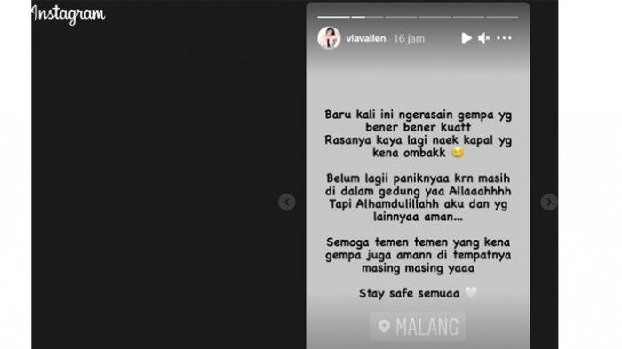 Komentar Via Vallen tentang Gempa di Malang