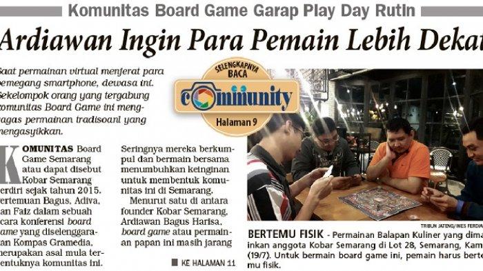 Komunitas Board Game Garap Play Day Rutin  Agar Para Pemain Lebih Dekat -