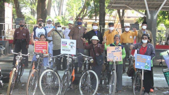 Komunitas Sepeda Ontoseno Kudus Kampanye Prokes Jelang HUT Kemerdekaan RI