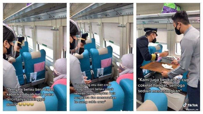 Kondektur Tenangkan Penumpang yang Menangis di Kereta Setelah Dengar Kabar Duka, Videonya Viral