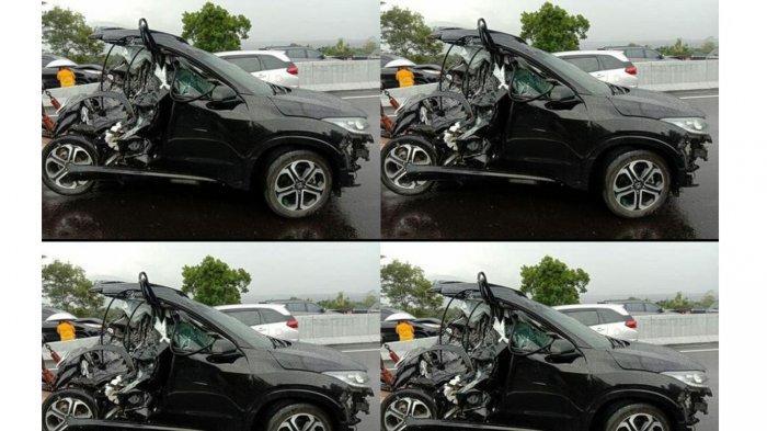 Kondisi mobil diduga milik Chacha Sherly kecelakaan di Tol Semarang (ISTIMEWA VIA TRIBUN JATENG)