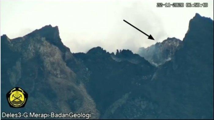 Kondisi Gunung Merapi Terkini: Guguran Lava Terekam CCTV, Berada di Dinding Kawah Utara