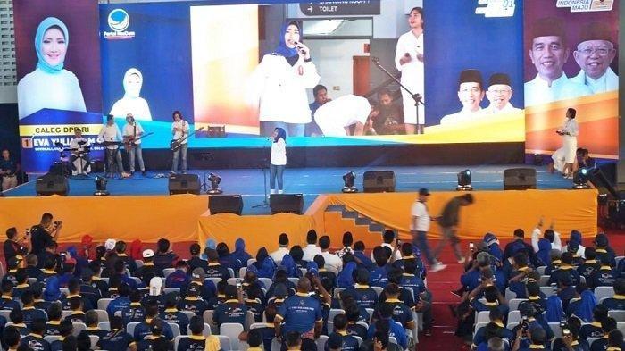 Konsolidasi Jelang Pencoblosan Pemilu 2019, 7.000 Relawan Jokowi-Ma'ruf Soloraya Berkumpul di Solo