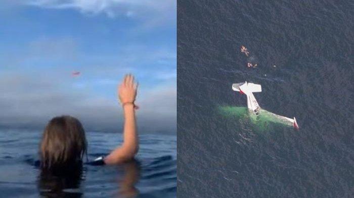 Video Detik-detik Beechcraft Bonanza, Pesawat Seharga Rp 3,5 Miliar Jatuh Menukik ke Laut