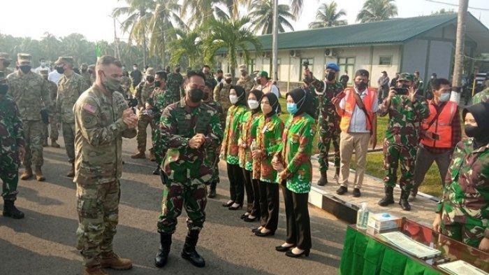 Ketika Jenderal Andika Perkasa Sambut Kedatangan Petinggi US Army di Martapura
