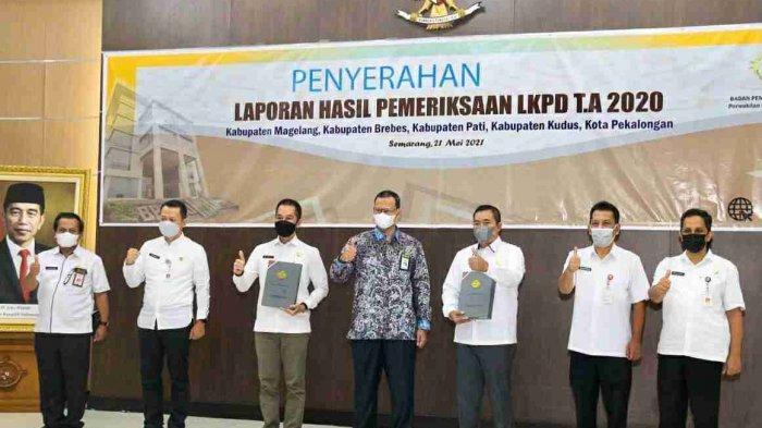 Penyerahan Laporan Hasil Pemeriksaan LKPD T.A 2020 Kabupaten Kudus (Jumat, 21 Mei 2021)