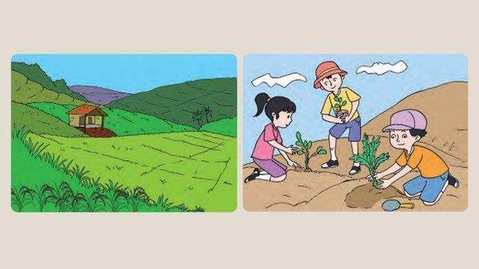 Kunci Jawaban Tema 8 Kelas 5 Halaman 1 3 4 6 Subtema 1 Pembelajaran 1 Manusia dan Lingkungan
