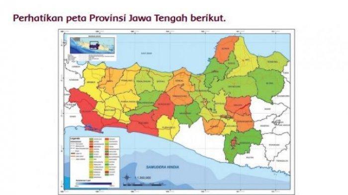 Kunci Jawaban Tema 9 Kelas 5 Halaman 20 21 22 23 24 25 26 Subtema 1 Peta Provinsi Jawa Tengah