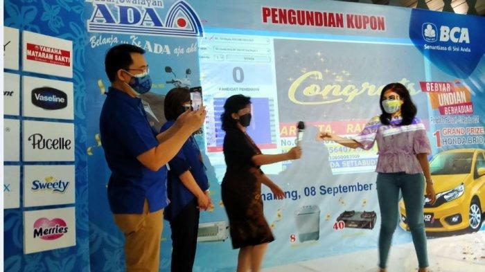 Pasar Swalayan Ada dan BCA Tetap Gelar Undian Berhadiah Mobil meski Kupon Menurun di Tengah PPKM