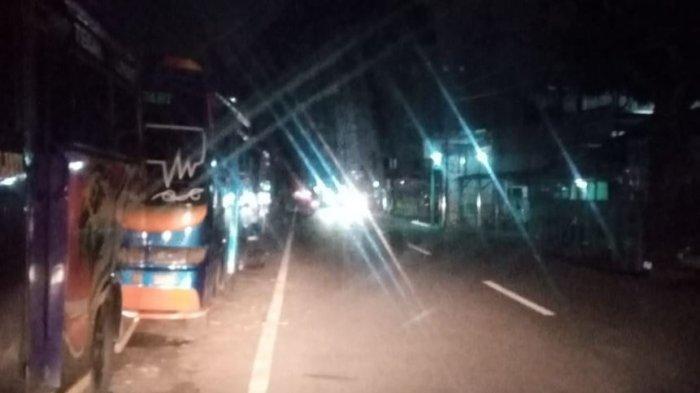 Lampu Penerangan Jalan di Kota Tegal Padam di Masa Jateng di Rumah Saja