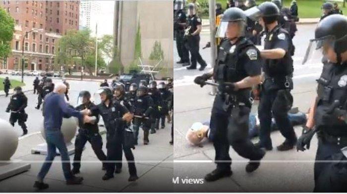 Donald Trump Tuduh Lansia Pendukung George Floyd yang Terjatuh Didorong Polisi sebagai Antifa