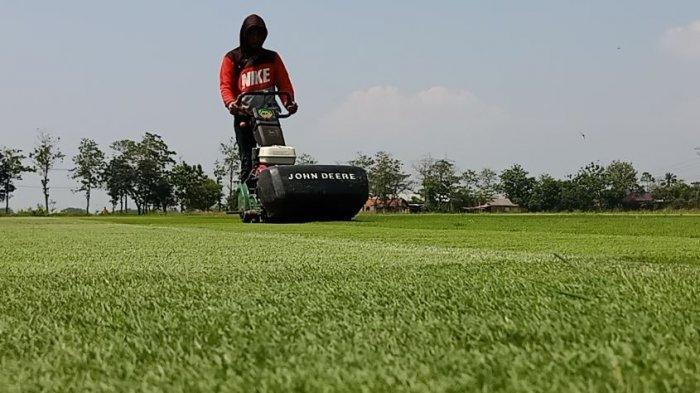 Lapangan Desa Purwodadi, Kecamatan Sragi, Kabupaten Pekalongan, Jawa Tengah yang standar FIFA.