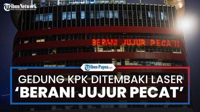 KPK Lapor Polisi, Permasalahkan Laser 'Berani Jujur Pecat' yang Warnai Gedung Merah Putih Bulan Lalu