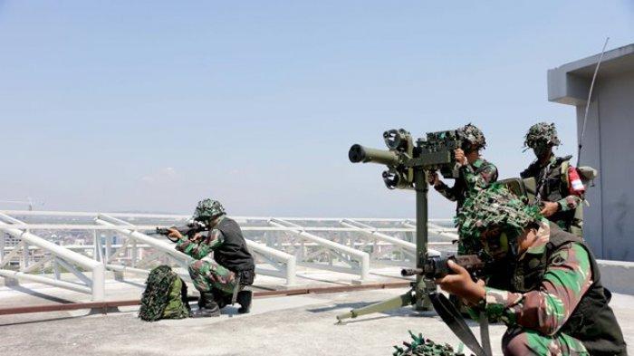Prajurit Yonarhanud 15 Semarang Melakukan Uji Siap Tempur Hadapi Pesawat Musuh