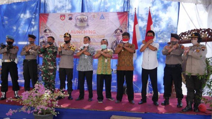 Kapolres Wonogiri AKBP Cristian Tobing Launching Kampung Tangguh Nusantara Candi, Cegah Covid-19
