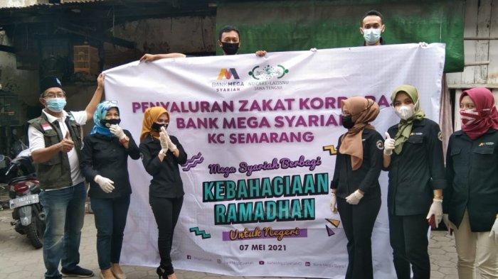 Lazisnu Jateng & Bank Mega Syariah Salurkan Zakat Korporasi di Pondok Boro hingga Panti Asuhan