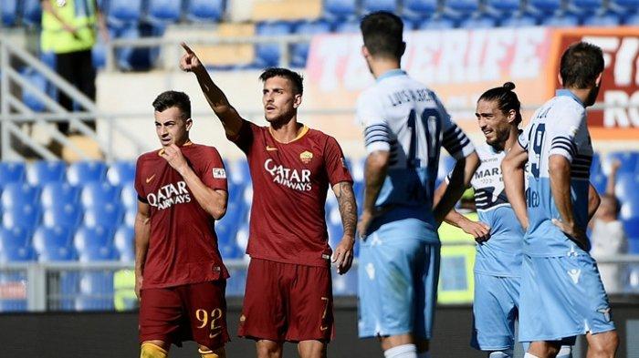 Hasil Babak I Skor 1-0 Manchester United Vs AS Roma Liga Europa 2021, Pellegrini Samakan Kedudukan