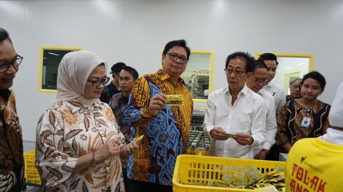 Menteri Perindustrian Airlangga Hartarto Hadiri Peresmian Perluasan Pabrik Sido Muncul