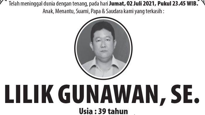 Kabar Duka, Lilik Gunawan SE Meninggal Dunia di Semarang