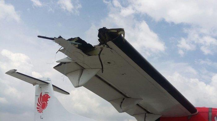 Senggolan di Bandara Kualanamu Medan, Sayap Pesawat Lion Air dan Wings Air Patah
