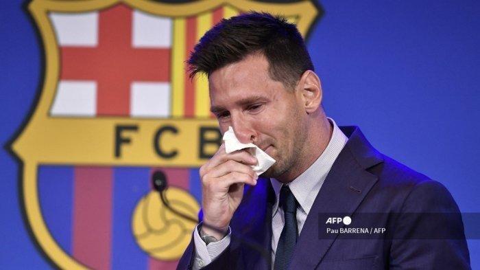 Tisu Bekas Lionel Messi saat Perpisahan dengan Barcelona Dijual Rp 14 M