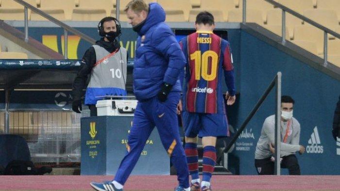 Lionel Messi Dapat Kartu Merah Pertama Sepanjang 16 Tahun Karier di Barcelona