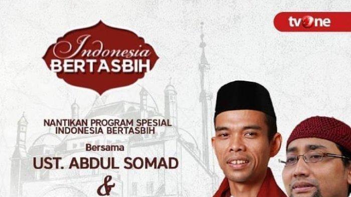 Sesaat Lagi Live Streaming TV One Ustadz Abdul Somad di Indonesia Bertasbih, Malam Tahun Baru 2019