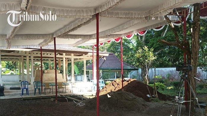 Lokasi pemakaman jenazah KGPAA Mangkunegara IX di kompleks pemakaman Astana Girilayu, Matesih, Karanganyar, Jawa Tengah, Minggu (15/8/202). Tribun Solo/Fristin Intan Sulistyowati