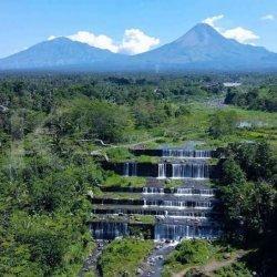 Wisata Grojogan Watu Purbo Yogyakarta Tetap Buka Meski Merapi Sempat Semburkan Awan Panas