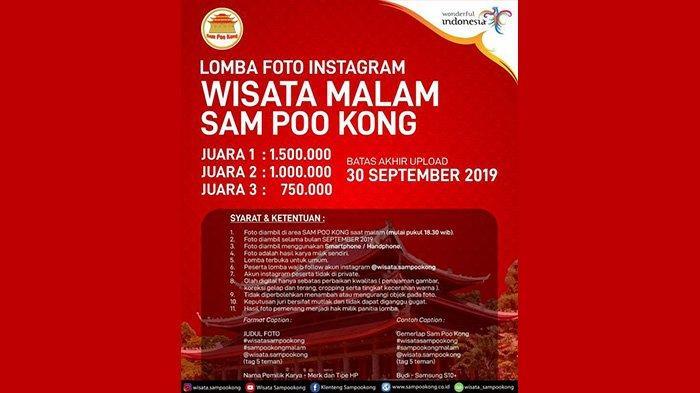 Lomba Foto Instagram Wisata Malam Sam Poo Kong Semarang, Ini Syaratnya