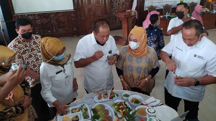 Puding Ketela Ungu Gondangrejo Juara Lomba Cipta Menu Makanan Lokal Karanganyar