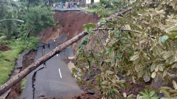 Kronologi Longsor Putus Jalan Wadaslintang-Prembun Kebumen, Warga: Saat Itu Masih Sangat Pagi