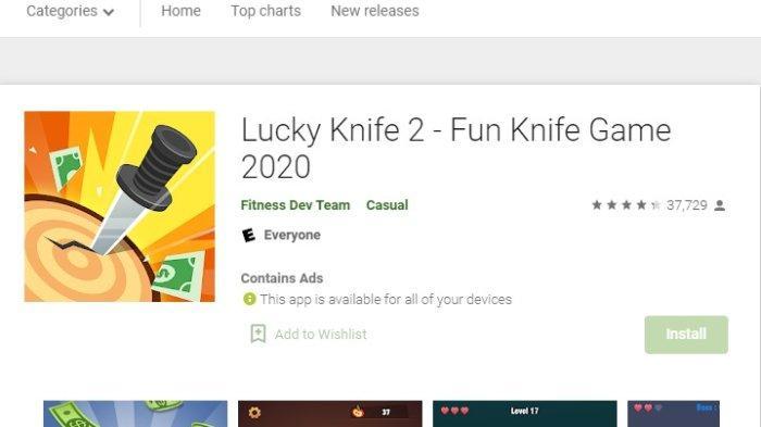 Aplikasi Penghasil Uang Lucky Knife, Ini Cara Main dan Dapatkan Cuan
