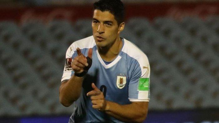 Hasil Kualifikasi Piala Dunia 2022 Uruguay Vs Chile, Gol di Injury Time Bawa Luis Suarez dkk Menang