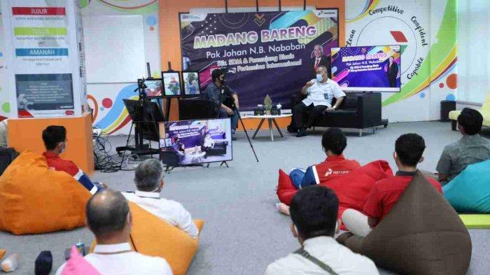 Antusias Peserta dalam acara live talkshow 'Madang Bareng Pak Johan'