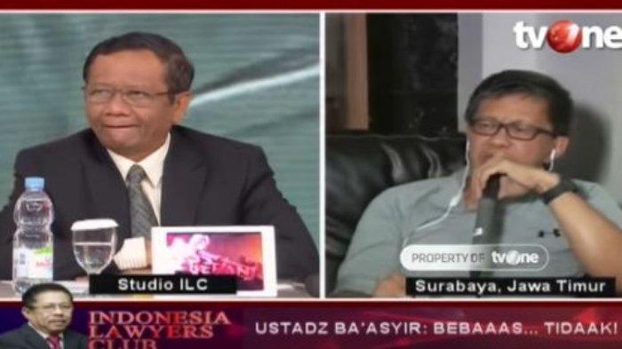 Mahfud MD Tertawa Saat Rocky Gerung Sebut Strategi Jokowi Kacau