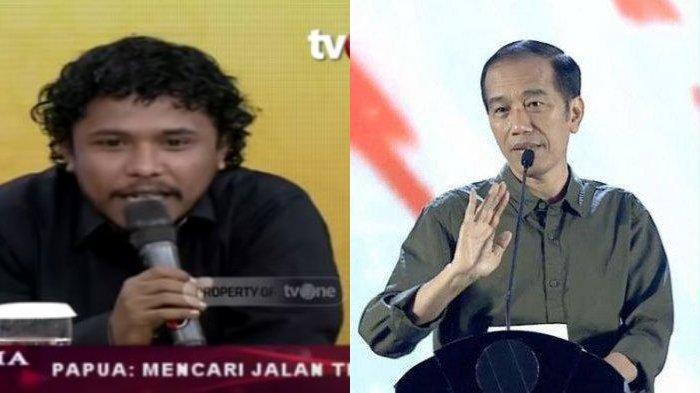 ILC heboh saat Pemuda Papua Mamat Alkatiri Beri Pesan untuk Jokowi