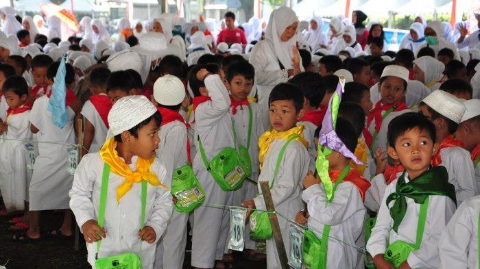 2.261 Anak RA dan TK Ikuti Manasik Haji di Lapangan Pancasila Salatiga