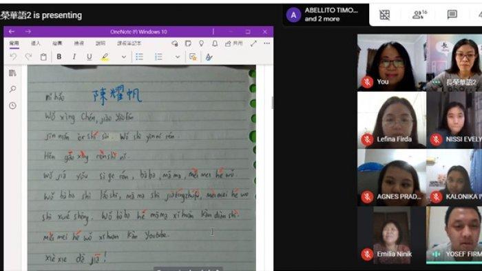 Mahasiswa Unika Gelar Kursus Bahasa Mandarin Online Kerja Sama dengan Perguruan Tinggi Taiwan