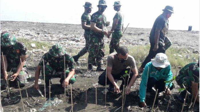 TNI-Polri Tanam Mangrove di Pesisir Mangunharjo, Bantu Perbaikan Pesisir