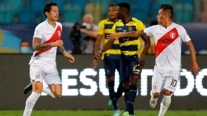 Cuplikan Gol Ekuador vs Peru, Mantan Bomber AC MIlan Ini Jadi Penyelamat La Rojiblanca