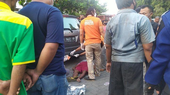 Cerita Siti Saksi Tukang Becak Sebelum Terjatuh dan Meninggal di Jalan Pemuda Semarang