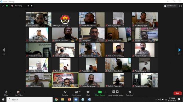 AKBP Christian Tobing Meeting Online, Tekankan Jaga Keamanan Pilkada Wonogiri 2020