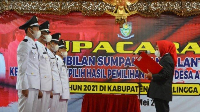 4 Kades Dilantik Bupati Purbalingga, Tiwi Berpesan Agar Berhati-hati Dalam Pengelolaan Anggaran