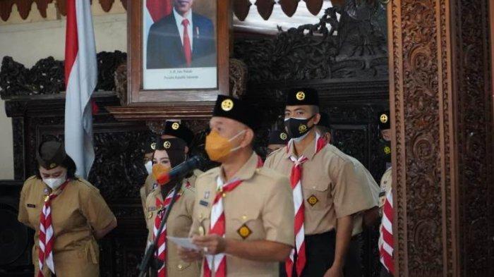 Peringati Hari Pramuka, Bupati Jepara: Anggota Pramuka Harus Jadi Pelopor Disiplin Prokes