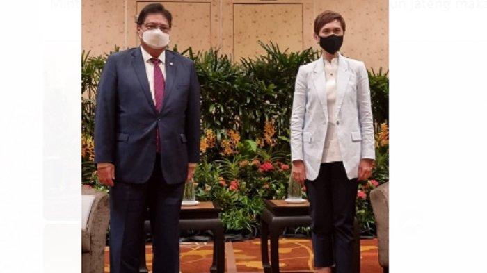 Pertemuan Menteri Koordinator Bidang Perekonomian, Airlangga Hartarto dengan sejumlah Menteri Singapura, menghasilkan sejumlah komitmen antara kedua negara.