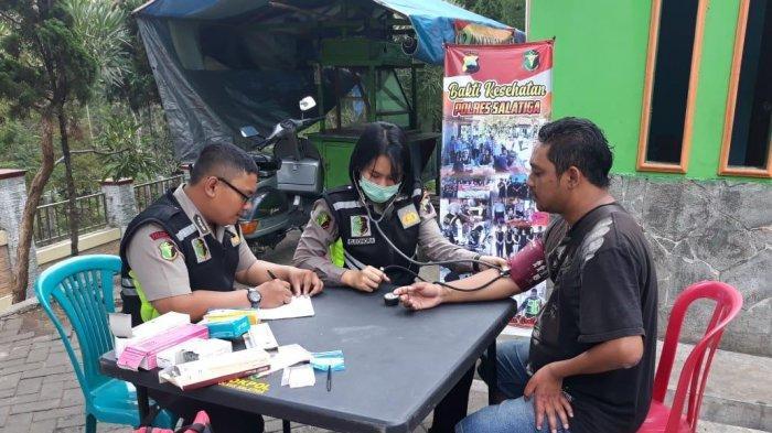 Polisi di Salatiga Periksa Kesehatan Pengunjung Taman Kota Bendosari, Gratis