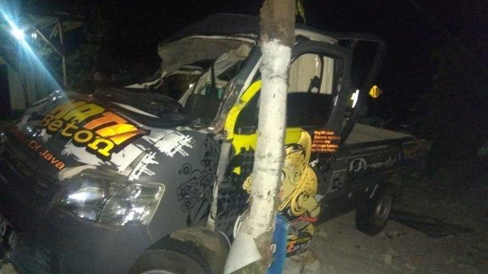 Mobil Pikap Tabrak Kelontong di Wonogiri, Sopir dan Penumpang Patah Tulang