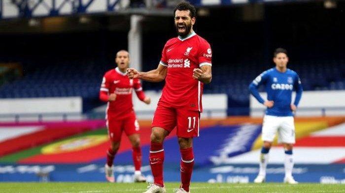 Hasil Liga Inggris Tadi MalamEverton vsLiverpool:Mohamed Salah Berhasil Cetak Gol Ke-100